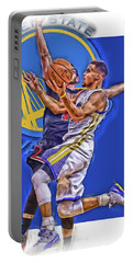 Stephen Curry Golden State Warriors Oil Art Portable Battery Charger