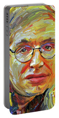 Stephen Hawking Tribute Portrait 4 Portable Battery Charger