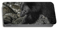 Stepping Into The Creek Black Bear Portable Battery Charger