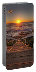 Steps To The Sun  Portable Battery Charger by Peter Tellone