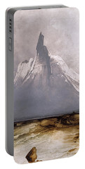 Portable Battery Charger featuring the painting Stetind In Fog by Peder Balke