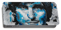 Portable Battery Charger featuring the painting Steve Jobs II by Richard Day