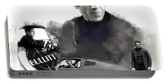 Portable Battery Charger featuring the painting Steve Mcqueen 50 Bullitt by Iconic Images Art Gallery David Pucciarelli