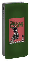 Steve Mcqueen On Motorcycle The Great Escape Poster 1963 Color Added 2016 Portable Battery Charger
