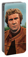 Steve Mcqueen Painting Portable Battery Charger by Paul Meijering