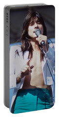 Steve Perry Of Journey At Day On The Green Ca - July 1980 Portable Battery Charger