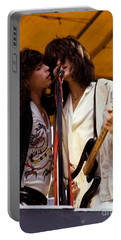 Steven Tyler And Joe Perry Of Aerosmith At Monsters Of Rock In Oakland Ca 1979 Portable Battery Charger