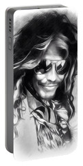 Steven Tyler Illustration  Portable Battery Charger