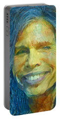 Steven Tyler Portable Battery Charger by Paul Van Scott