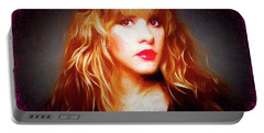 Stevie Nicks Drawing Portable Battery Charger