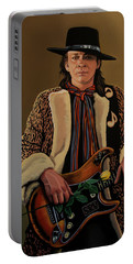 Stevie Ray Vaughan 2 Portable Battery Charger by Paul Meijering
