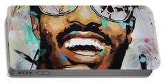Stevie Wonder Portrait Portable Battery Charger