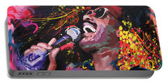 Stevie Wonder Portable Battery Charger by Richard Day