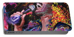 Portable Battery Charger featuring the painting Stevie Wonder by Richard Day