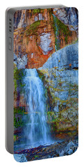 Portable Battery Charger featuring the photograph Stewart Falls by David Millenheft