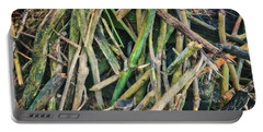 Stick Pile At Retzer Nature Center Portable Battery Charger by Jennifer Rondinelli Reilly - Fine Art Photography