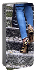 Portable Battery Charger featuring the photograph Stiletto,steps And Stones by Jennie Breeze