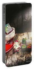 Still Life Christmas Scene Portable Battery Charger