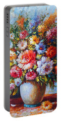 Still Life Colourful Flowers In Bloom Portable Battery Charger