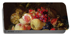 Still Life Portable Battery Charger by Cornelis de Heem