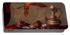 Portable Battery Charger featuring the digital art Still Life In Arabic Style by Alexa Szlavics