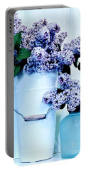 Still Life Of Lilacs Portable Battery Charger