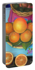 Still Life Oranges And Grapefruit Portable Battery Charger