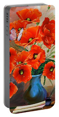 Still Life Poppies Portable Battery Charger