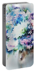 Still Life Rose Bouquet Watercolour Portable Battery Charger