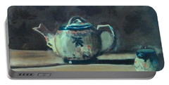 Still Life Teapot And Sugar Bowl Portable Battery Charger