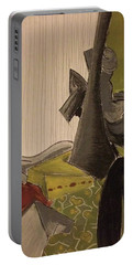 Still Life With A Black Horse- Cubism Portable Battery Charger by Manuela Constantin