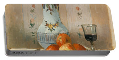 Still Life With Apples And Pitcher, 1872  Portable Battery Charger