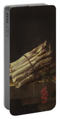 Still Life With Asparagus And Red Currants Portable Battery Charger
