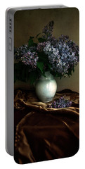 Portable Battery Charger featuring the photograph Still Life With Bouqet Of Fresh Lilac by Jaroslaw Blaminsky