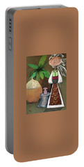 Still Life With Countru Girl Portable Battery Charger