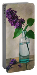 Portable Battery Charger featuring the photograph Still Life With Fresh Lilac by Jaroslaw Blaminsky