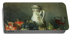 Still Life With Grapes And Pomegranates Portable Battery Charger