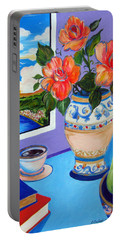 Still Life With Holy Bible Portable Battery Charger