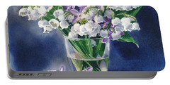 Still Life With Lilacs And Lilies Of The Valley Portable Battery Charger