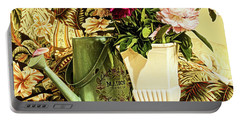 Portable Battery Charger featuring the photograph Still Life With Peonies by Jessica Manelis