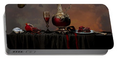 Portable Battery Charger featuring the photograph Still Life With Pomegranate by Alexa Szlavics