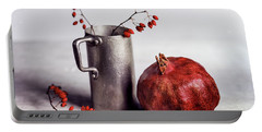 Still Life With Pomegranate Portable Battery Charger