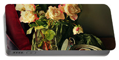 Still Life With Roses Portable Battery Charger