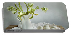 Still Life With Tulips And Eggs Portable Battery Charger