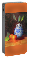 Still Life With Vase And Fruit Portable Battery Charger
