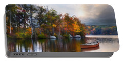 Portable Battery Charger featuring the photograph Still Water Lake by Robin-Lee Vieira