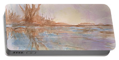 Still Waters Portable Battery Charger by Ellen Levinson