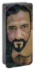 Still Wet Cristo Soto Portable Battery Charger by Ron Richard Baviello