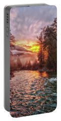 Stilly Sunset Portable Battery Charger by Charlie Duncan