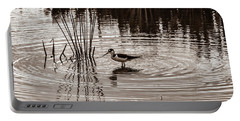 Stilt Wading At Green Cay Wetlands Boynton Beach Florida Portable Battery Charger